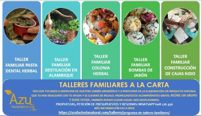 TALLERES FAMILIARES A LA CARTA LISTA DE TALLERES